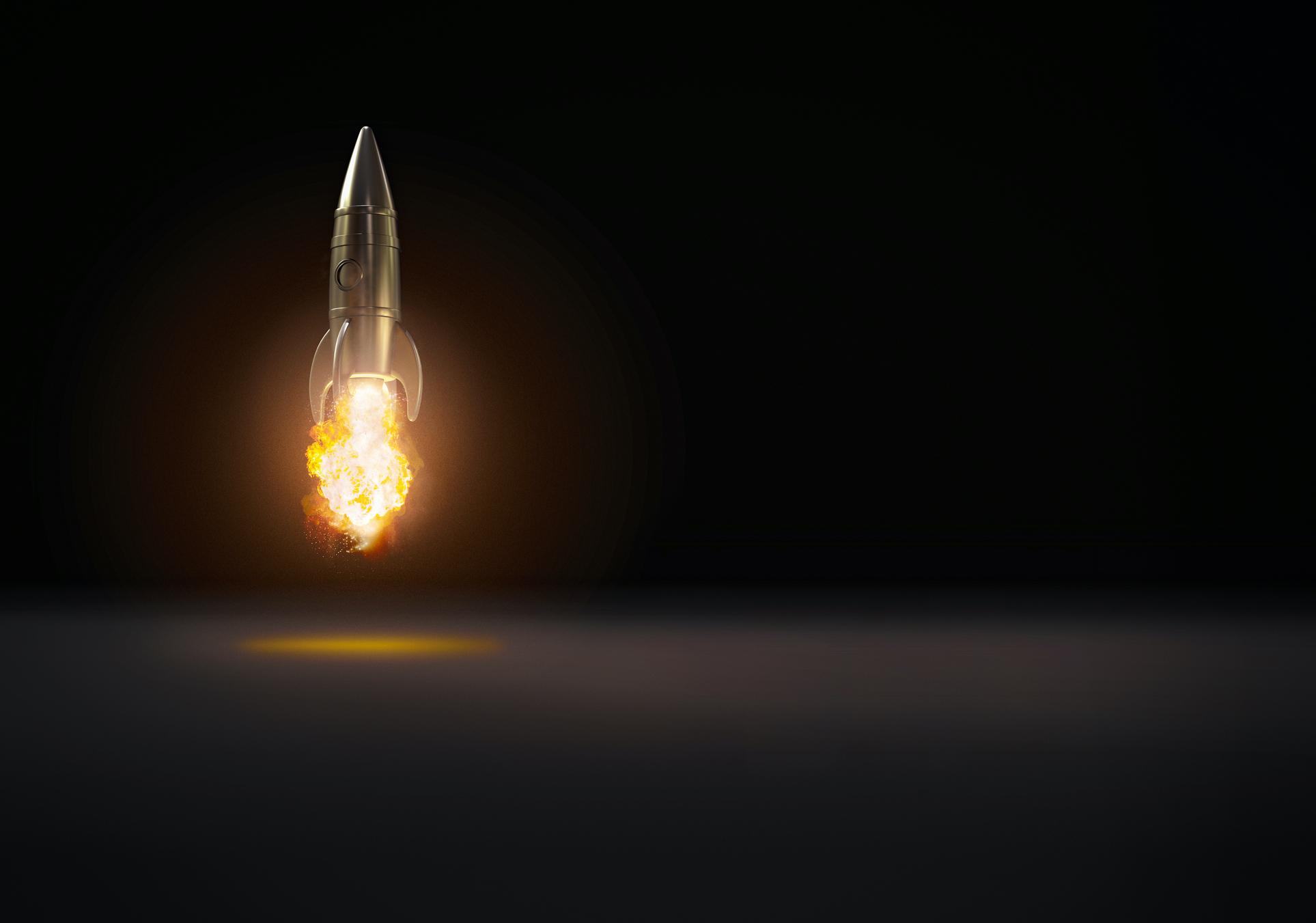 Rocket taking off