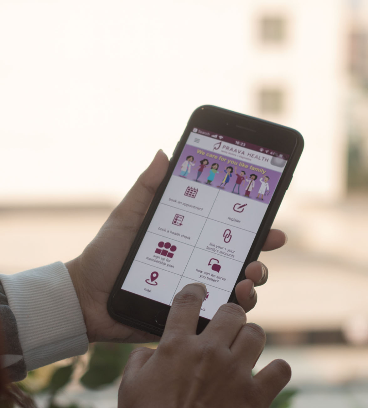 Praava Health's patient portal app