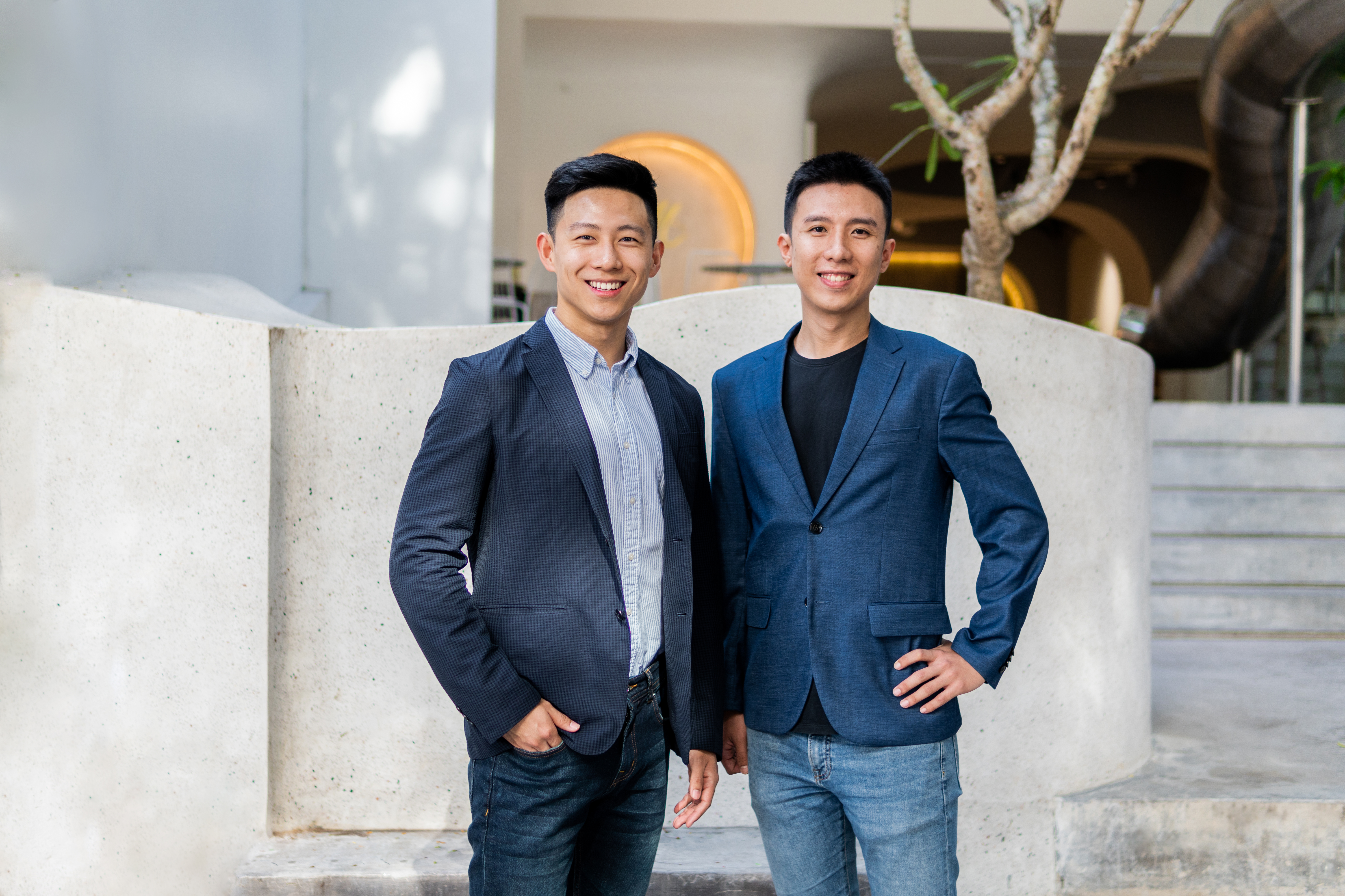 Homebase co-founders Phillip A good and Junyuan Tan