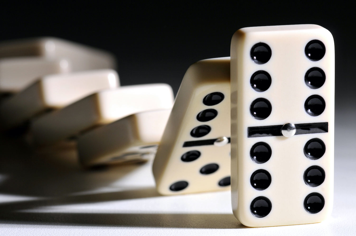 Close-Up Of Dominoes On Table