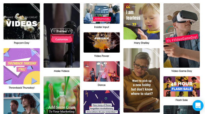 Promo. com video library