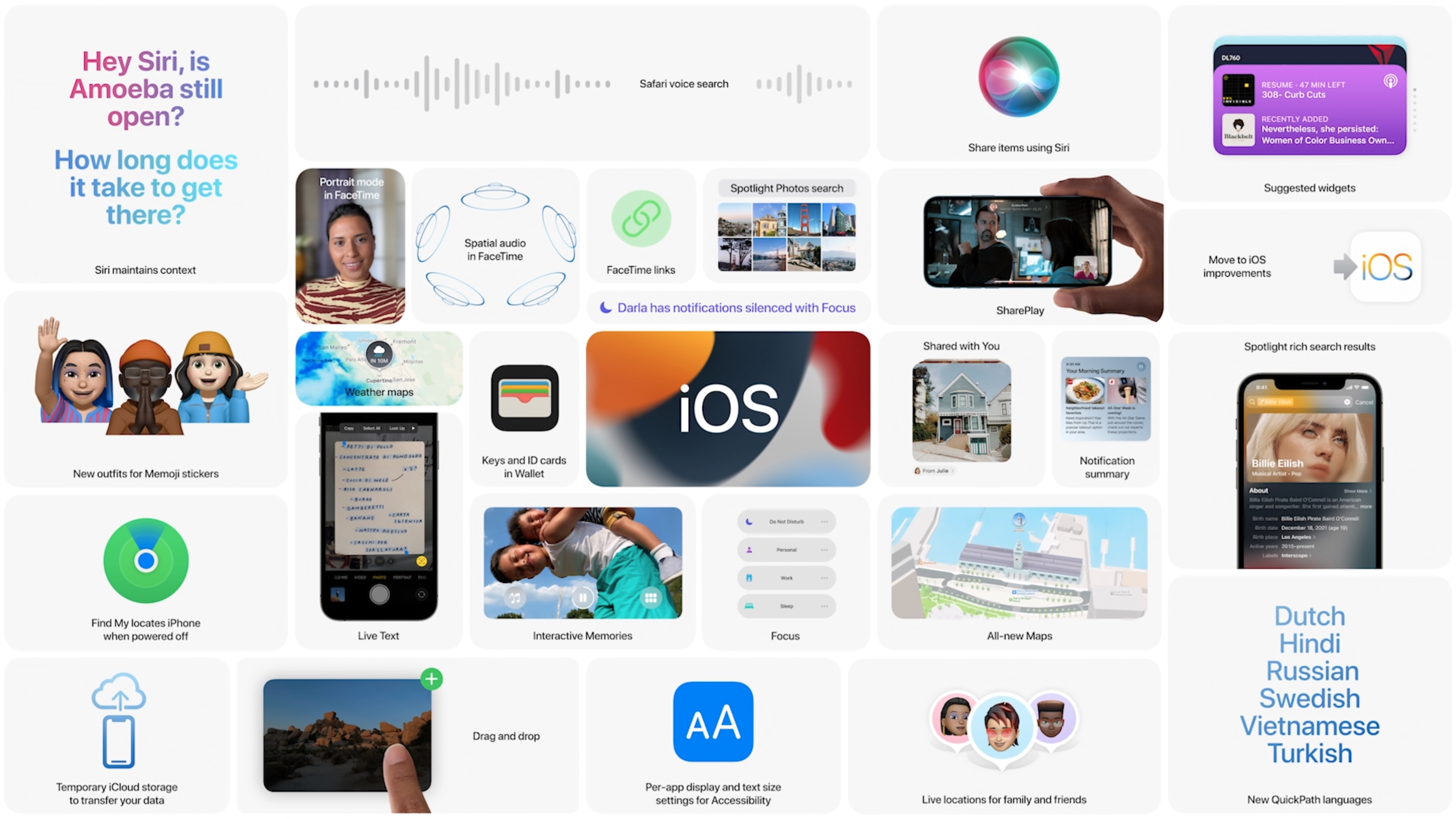 WWDC iOS overview screen