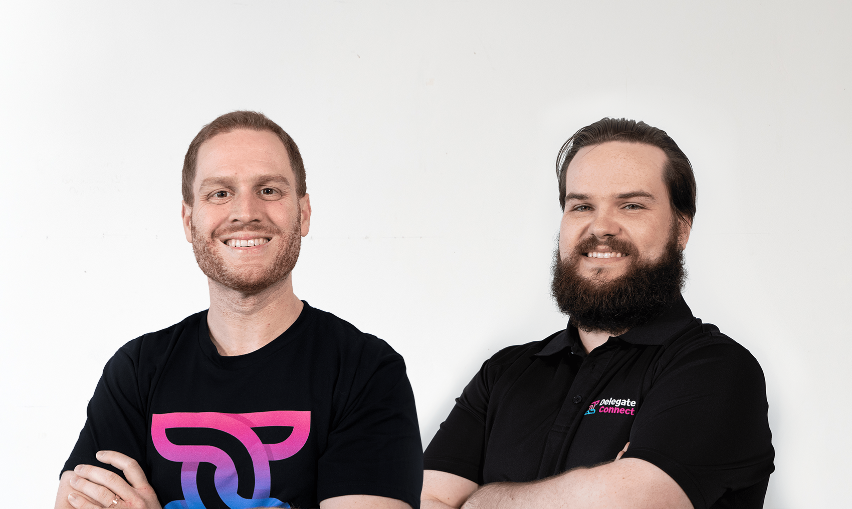 Delegate Connect founders Jordan Walsh and Jacob Thomas